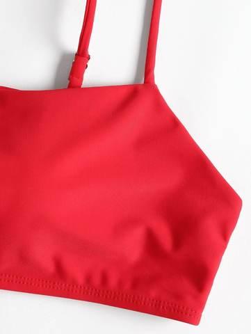 купальник красный с лямками раздельный бразильяно Fire Engine Red 3