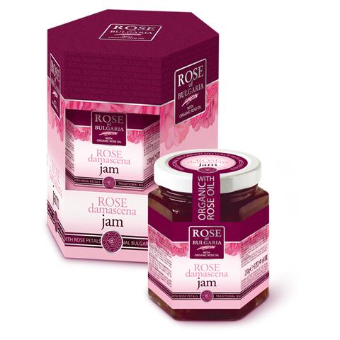 Джем с розовым маслом и лепестками роз, 230 гр.