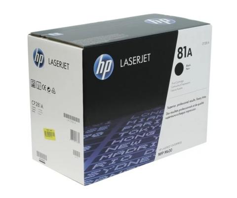 Оригинальный картридж HP CF281A (№81A), чёрный