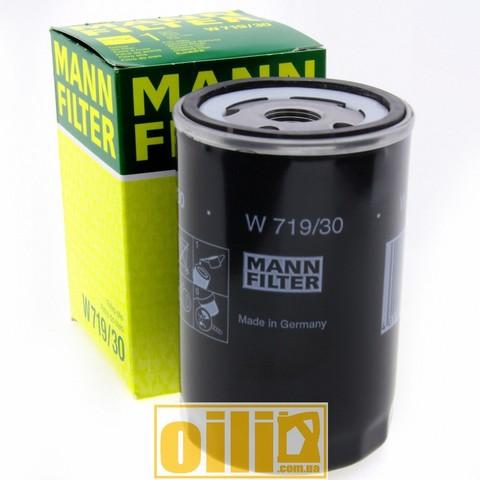 Фильтр масляный MANN W719/30 (BMW, Audi,Volkswagen, Seat, Skoda)