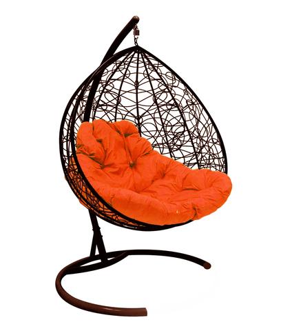 Кресло подвесное Lagos TWIN brown/orange