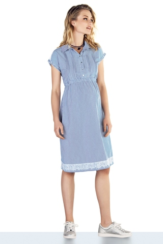 Платье для беременных 10213 голубой
