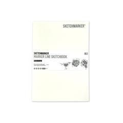 Скетчбук Sketchmarker Marker Line 160 г/м², 17,6 х 25 см, 16 л., мягкая обложка, цвет белый