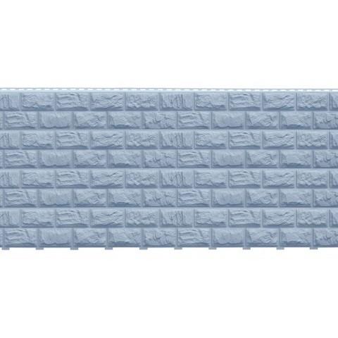 Фасадные панели (Цокольный Сайдинг) Доломит Альпийский (Дикий Камень) Серо-голубой