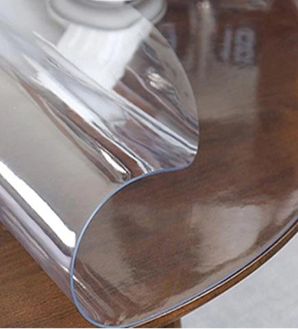 Скатерть круглая прозрачная 105 см толщина 2 мм