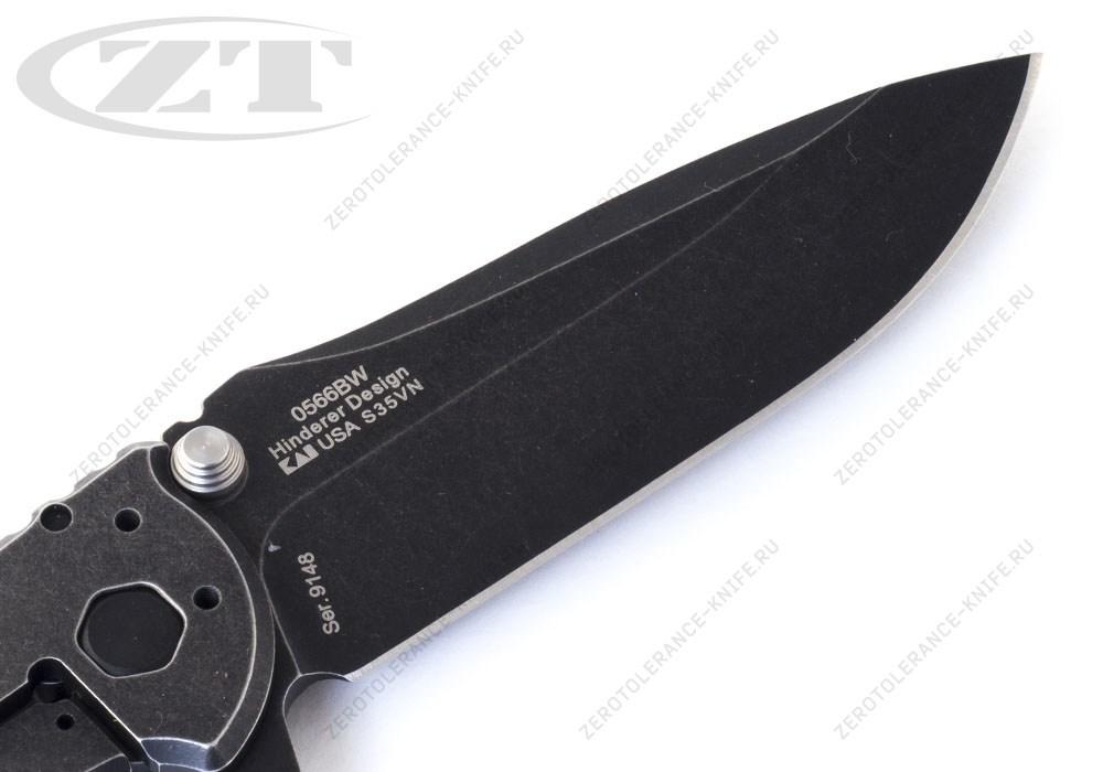 Нож ZERO TOLERANCE 0566BW G10 Hinderer - фотография