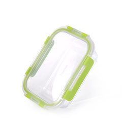 Контейнер с пластиковой крышкой 17х12х5см / 600мл (стекло)