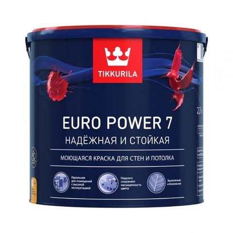 Tikkurila Euro Power 7 / Тиккурила Евро Пауэр 7 краска матовая моющаяся