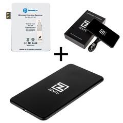 Комплект для Samsung Galaxy Note 2: беспроводная зарядка Zentu S7 black + приемник-ресивер Qi