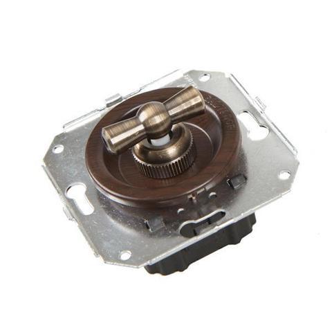 Выключатель четырёх позиционный для внутреннего монтажа оконечный (Двухклавишный). Цвет Венге. Salvador. CL21WG