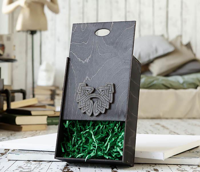 BOX230-1 Фирменная подарочная коробка с логотипом (18*26*7,5 см) фото 05