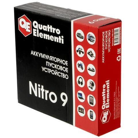 Пусковое устройство QUATTRO ELEMENTI Nitro  9  (12В, 9000 мАч, 450 А,  USB, LCD -  фонарь)