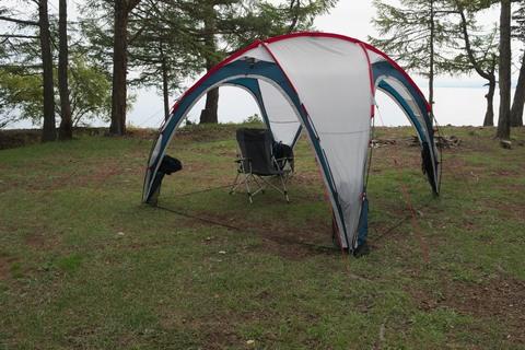Шатер Canadian Camper SPACE ONE, цвет royal, на природе 4.