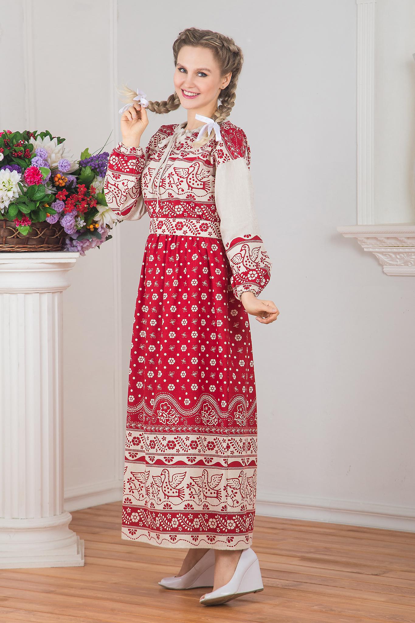 Русское народное платье Певчее вид сбоку