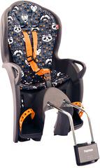 Детское велокресло Hamax Kiss Medium серый/оранжевый
