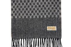 Шерстяной шарф темно-серый 30411