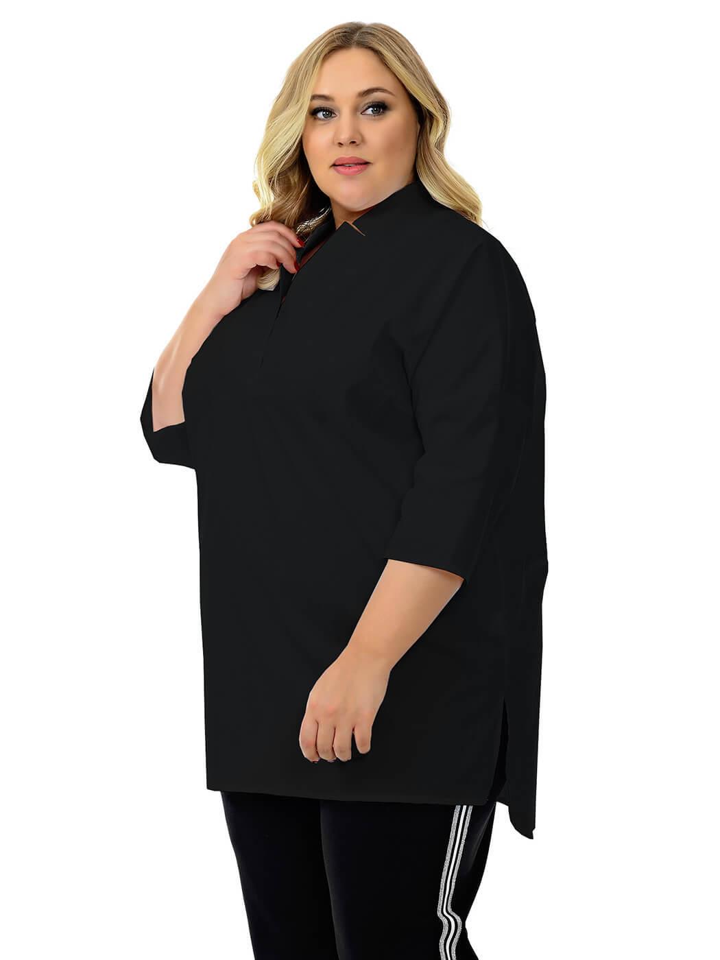 Туника-рубашка из хлопка Кимоно