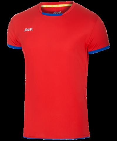 Футболка волейбольная JVT-1030-027, красный/синий