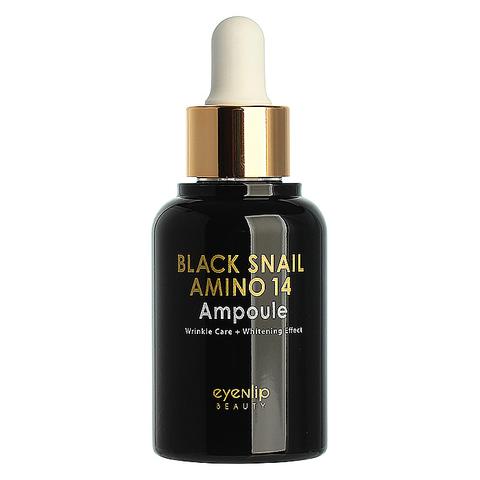 EYENLIP BLACK SNAIL Сыворотка для лица ампульная с аминокислотами BLACK SNAIL AMINO 14 AMPOULE 30мл