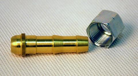 Штуцер с гайкой 3/8 GOK на газовый шланг 9 мм