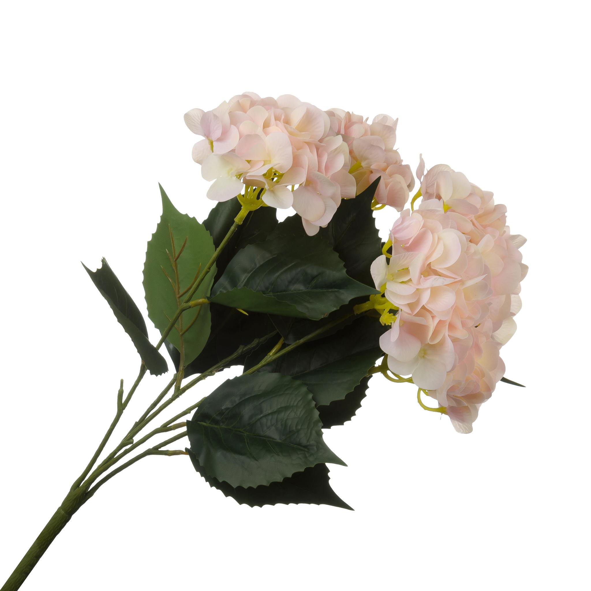 Гортензия розовая с силиконовым покрытием 55 см