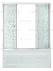 Шторка для ванны Triton Аква Мозаика 170 двухстворчатая
