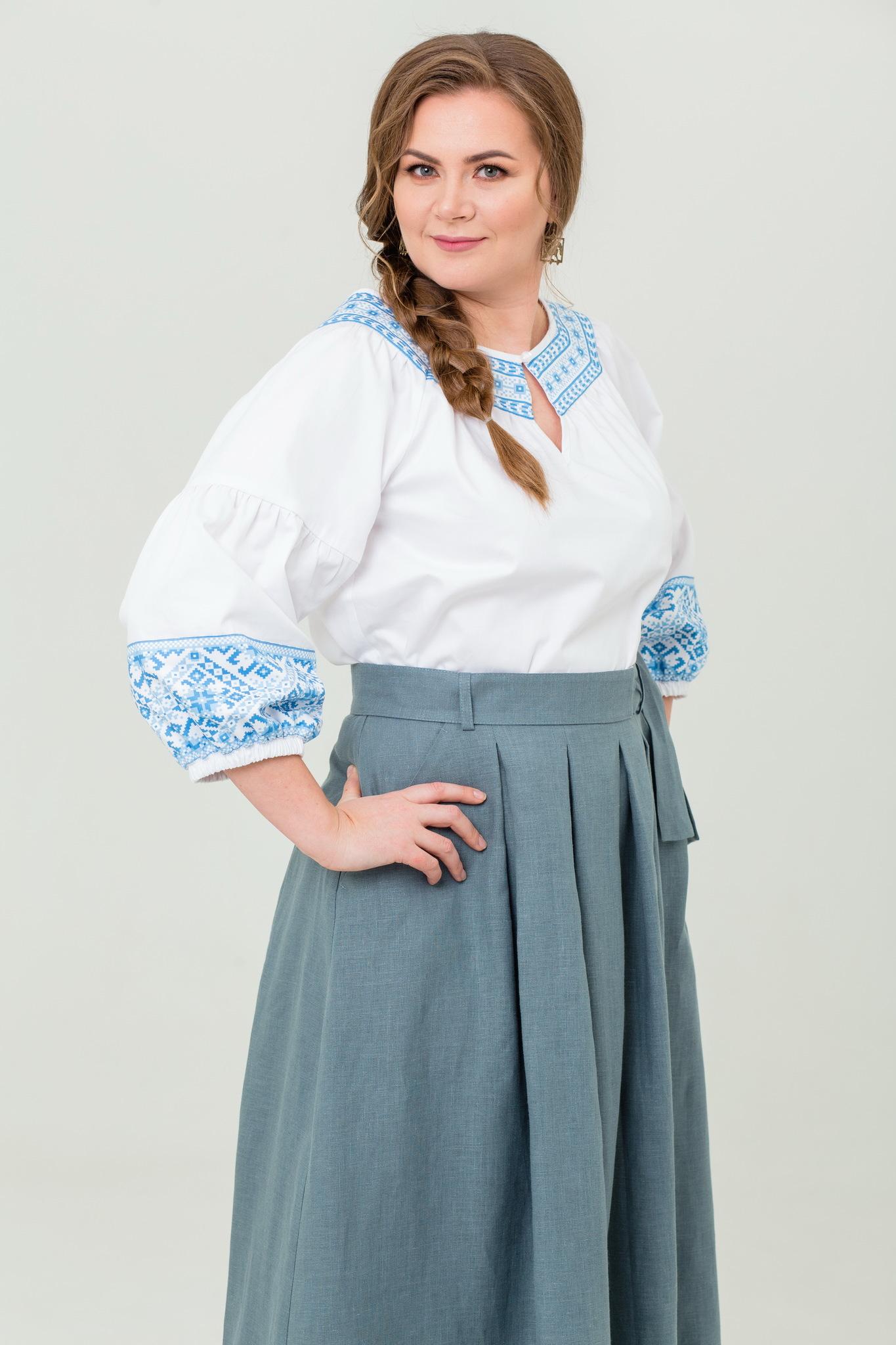 Блуза хлопковая Василиса русская народная