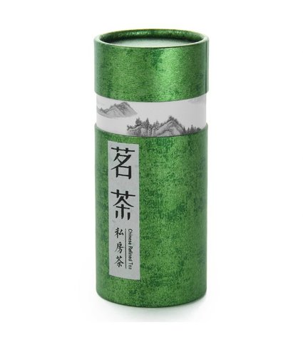 Картонная баночка для хранения чая (зеленая)