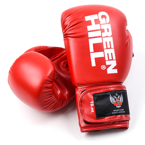 Перчатки боксерские REX BGR-2272,  Green Hill красные