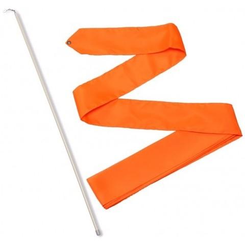 Лента гимнастическая 6,0 м с палочкой 56см Оранжевый СЕ6-01