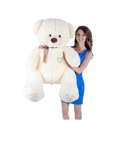 Игрушка Плюшевый медведь Феликс I Love You (150 см). Молочный