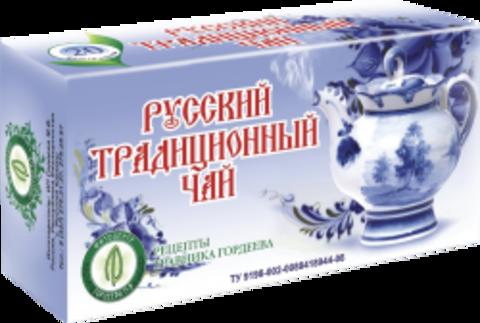 РУССКИЙ ТРАДИЦИОННЫЙ ЧАЙ, ф/п, 20шт, кор. (ИП Гордеев М.В.)