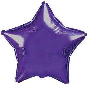 Фольгированный шар Звезда VIOLET 18