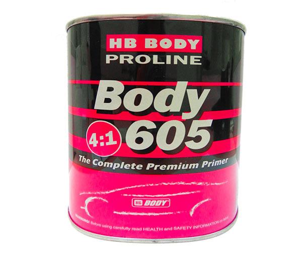 HB BODY Грунт-наполнитель акриловый 2к BODY PROLINE 605+625 4:1 комплект BODY-605.jpg