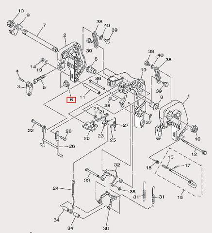 Тарелка зажима для лодочного мотора F9,9 Sea-PRO (21-6)