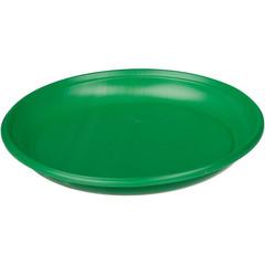 Тарелка одноразовая пластиковая зеленая 165 мм 50 штук в упаковке