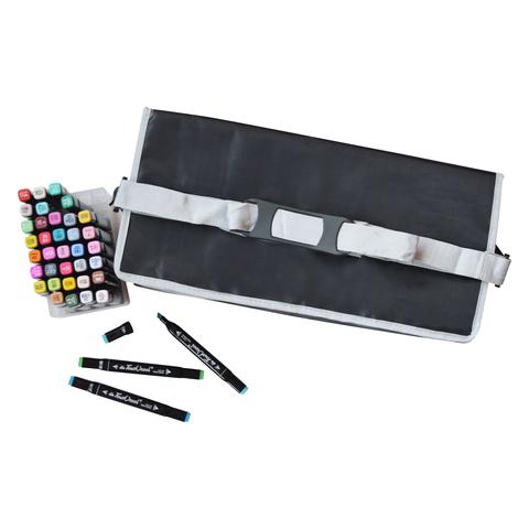 Набор спиртовых маркеров TOUCH COOL в сумке-пенале с наплечным ремнем, 202 цвета (уценка)