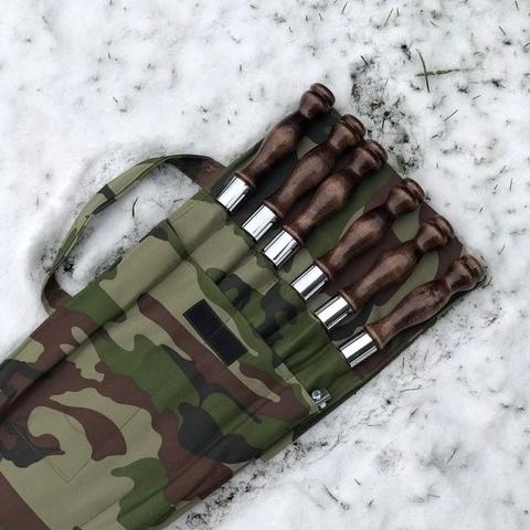 """Набор шампуров в чехле №1 """"Камуфляж"""""""