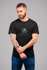 Мужская футболка с принтом Акура (Acura) черная 001