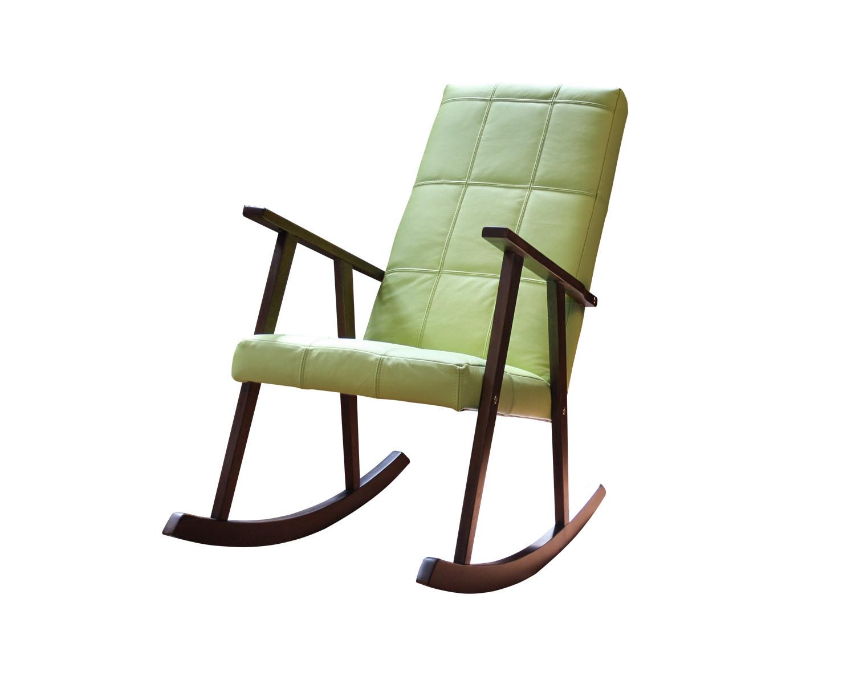 Кресло-качалка Стелси-К, натуральная кожа цвет Менти