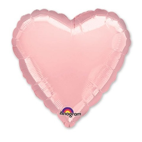 Сердце Пастель, Розовый (46 см)