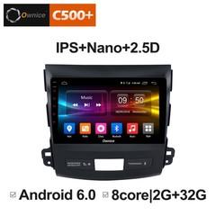 Штатная магнитола на Android 6.0 для Mitsubishi Outlander 07-12 Ownice C500+ S9636P