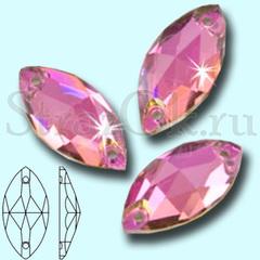 Стразы пришивные светло-розовые Vitrail Pink, Navette купить в инетрнет-магазине
