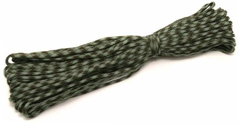 Шнур нейлоновый Паракорд PC137 длина 30 м, диаметр 4.0 мм (серо-зелёный)