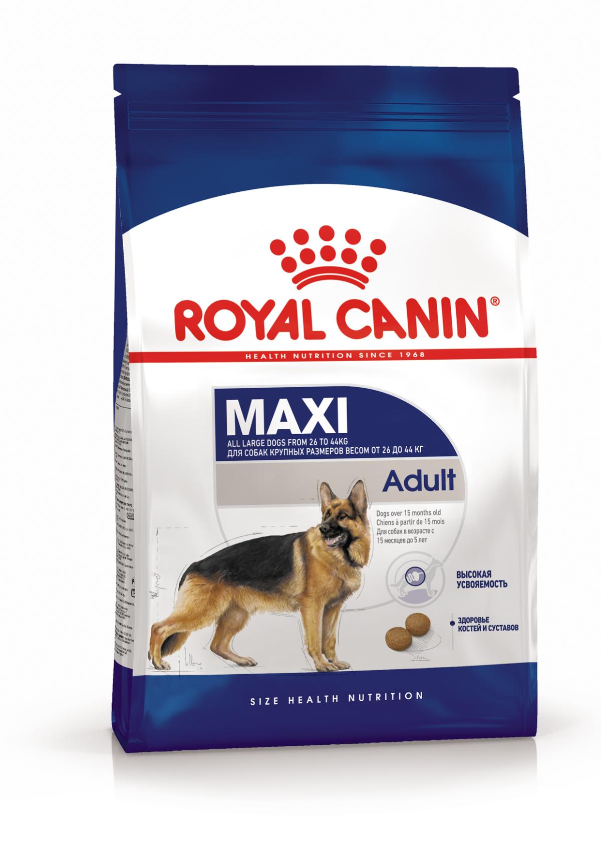 Сухой корм Корм для собак крупных пород, Royal Canin Maxi Adult 4627109389681_1.png