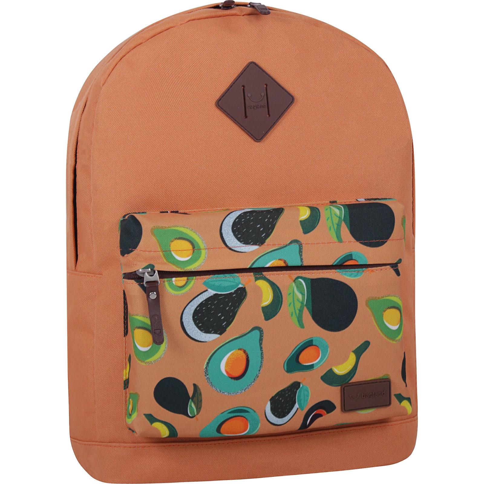 Городские рюкзаки Рюкзак Bagland Молодежный W/R 17 л. Рыжий 754 (00533662) IMG_7227_суб.754_-1600.jpg