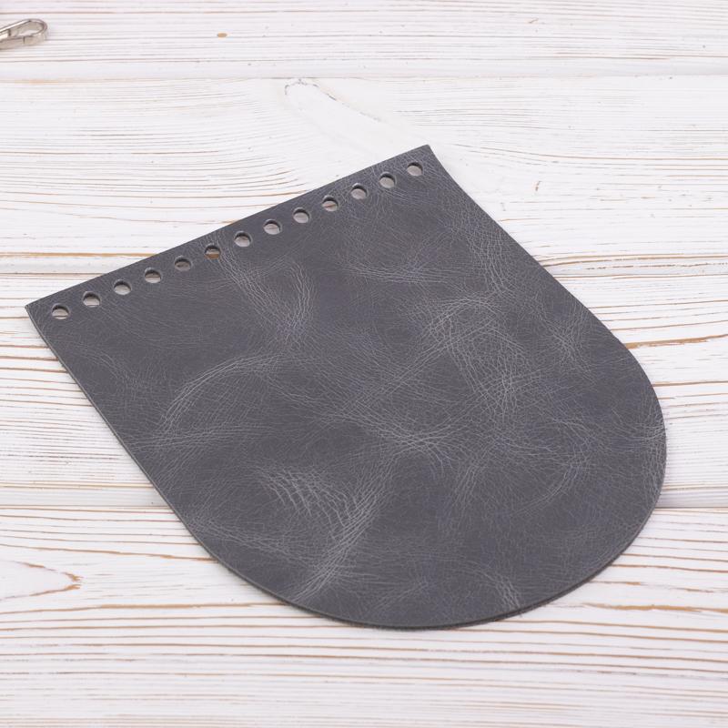 """Вся фурнитура Клапан для сумочки кожаный """"Серый пулап"""" 19,5 см на 15,5 см IMG_7148.jpg"""