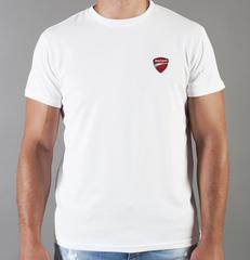 Футболка с принтом Ducati (Дукати) белая 0018