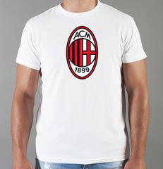 Футболка с принтом FC ACM Milan (ФК Милан) белая 002
