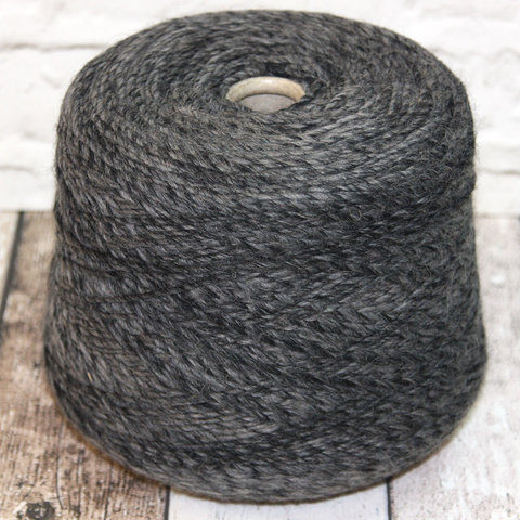 Смесовка меринос с альпакой PINORI FILATI / MAGRITTE 180 серо-черный меланж